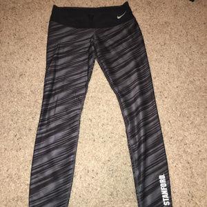 NWOT Stanford University Nike Leggings Grey Black
